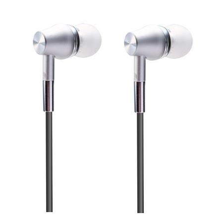 Flotte silver Abingo S100i In-ear øretelefoner med mikrofon.