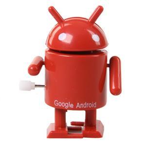 Mini Google Android Logo Clockwork Robot. Rød.