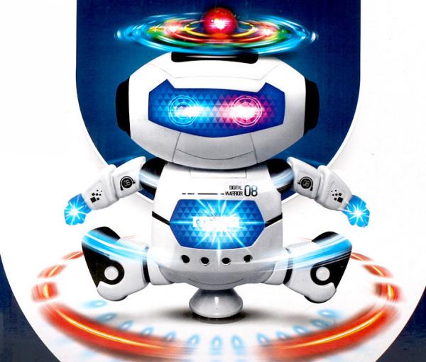 Sjov og underholdende dansende robot med masser af lys.