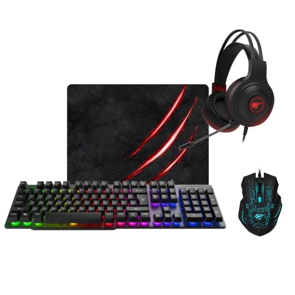 Havit Gaming Warrior pakken. Tastatur, headphones, mus, måtte
