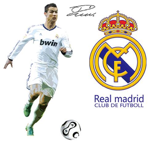 Christiano Ronaldo wallsticker. 90x60cm