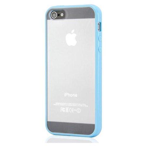 iPhone 5/5S/SE Mat transparent bumpercover. Sky blue.