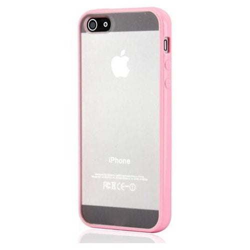 iPhone 5/5S/SE Mat transparent bumpercover. Lyserød.