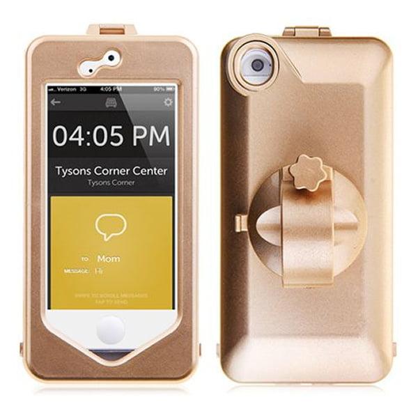 Vandtæt cykelholder / styrholder til iPhone 5 / 5S. Gold.
