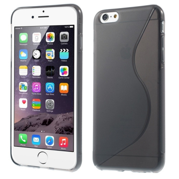 S-Line TPU cover til iPhone 6/6S. Grå.