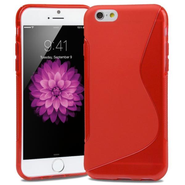S-Line TPU cover til iPhone 6 Plus/6S Plus. Rød.