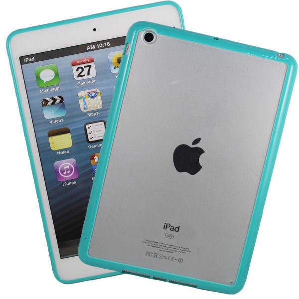 iPad Mini mat transparent bumpercover. Ocean green.