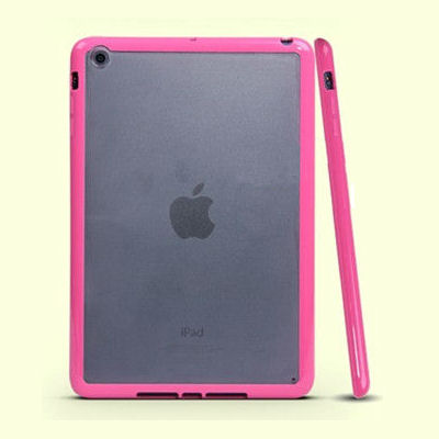 iPad Mini mat transparent bumpercover. Hot pink.