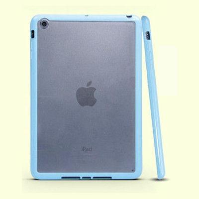 iPad Mini mat transparent bumpercover. Sky blue.