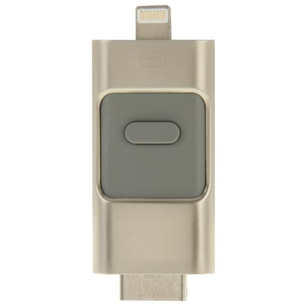 3 i 1 flashdrive hukommelsestik til iPhone / Android. 16GB.