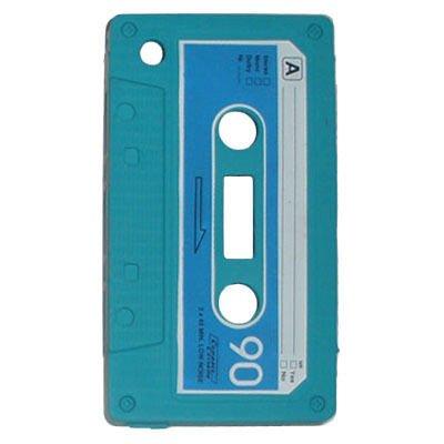 iPhone 5/5S/SE Retro Cover. Silikone kassettebånd. Ocean green.