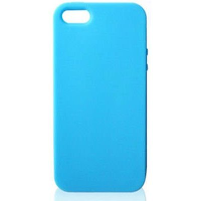 Silikone cover til iPhone 5/5S/SE. Sky blue.