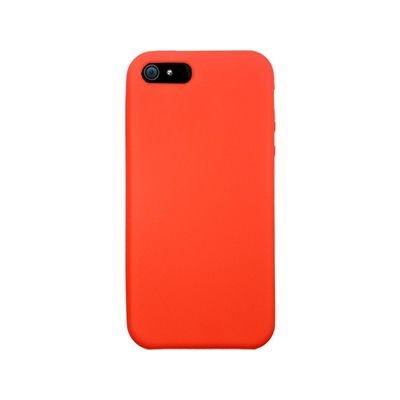 Silikone cover til iPhone 5/5S/SE. Rød.