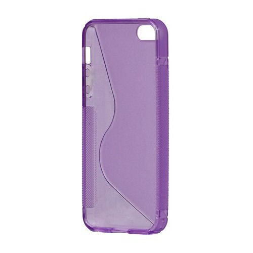 S-Line TPU cover til iPhone 5/5S/SE. Lilla.