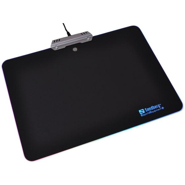 Sandberg Touch RGB Mousepad Aluminium med LED lys og farveskift.