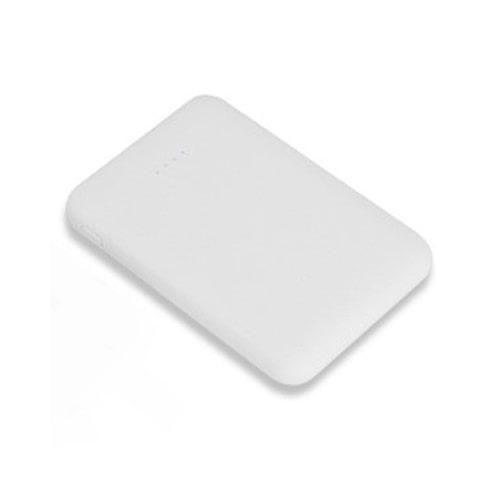 Ultra lille powerbank i lommestørrelse. 5.000mAh. Hvid.