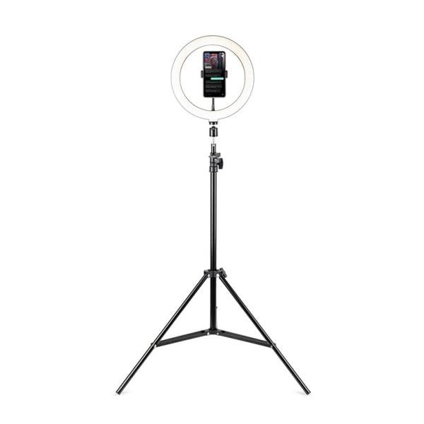 HAVIT ST7012I Telefonholder til live streaming med LED-ringlys.