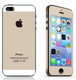 iPhone 5/5S/SE sticker. Champagne.