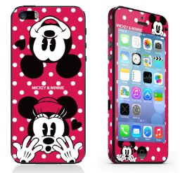 iPhone 5/5S/SE sticker. Minnie & Mickey Mouse.