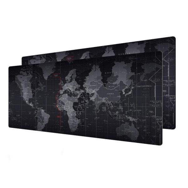 Stor Verdenskort Gaming Musemåtte. Large. 78x30cm